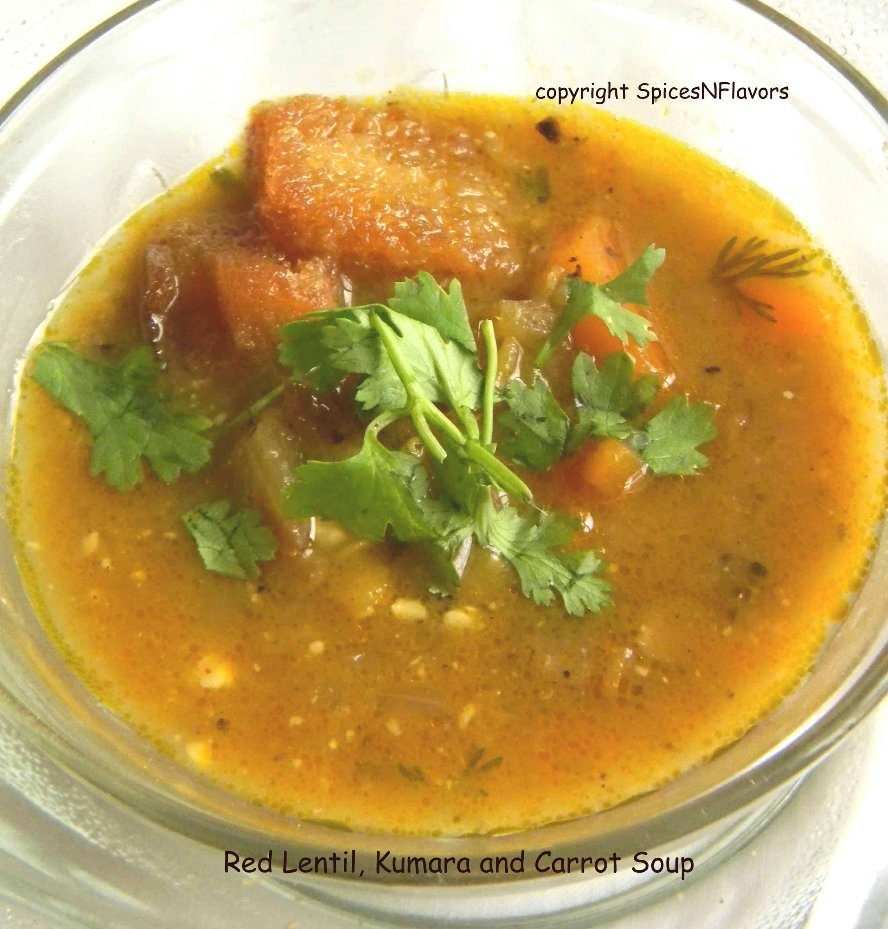 red-lentil-kumara-carrot-soup-spicesnflavors.com