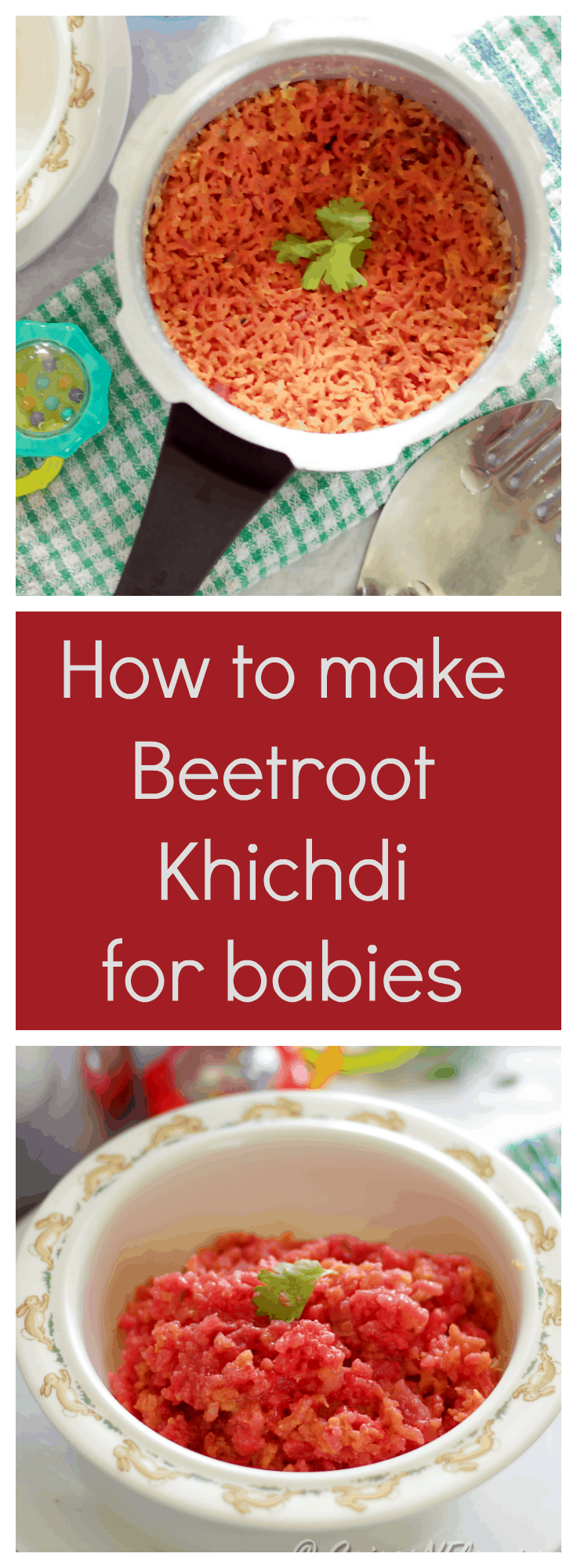 beetroot-khichdi a vegan gluten-free delicious recipe for babies from 8 months onwards baby food