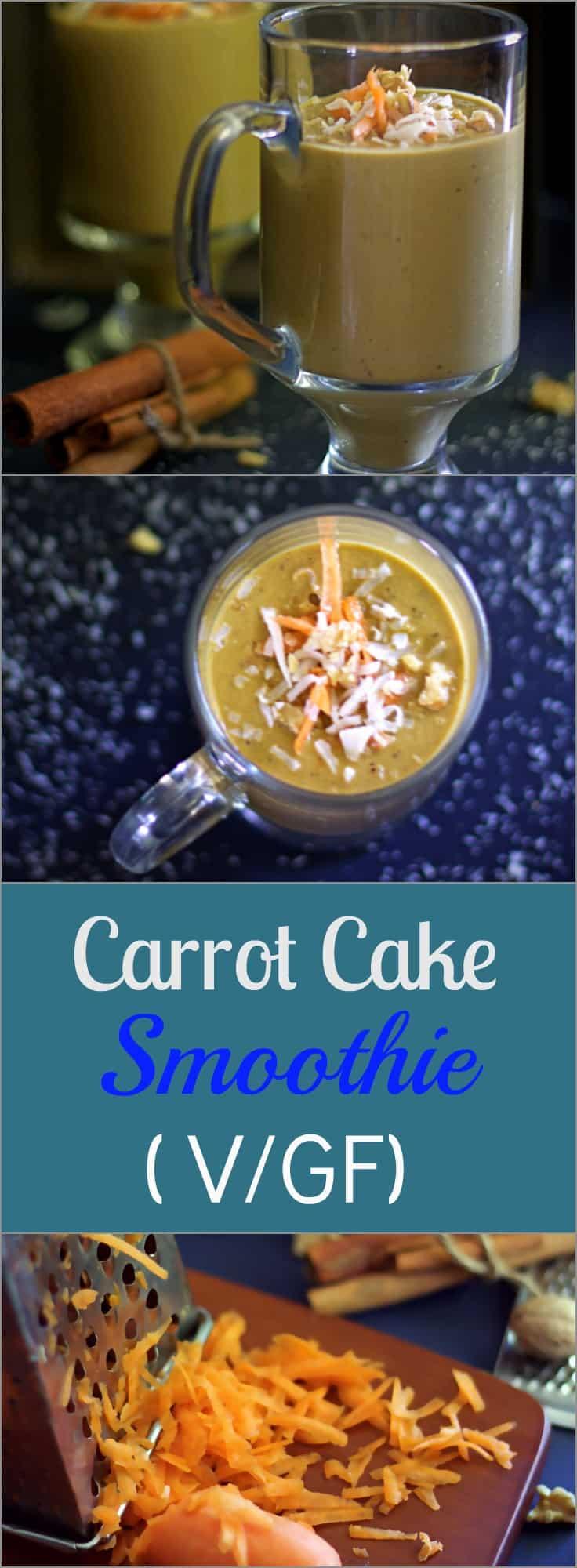 healthy-vegan-glutenfree-carrot-cake-smoothie a healthy delicious gluten free smoothie tasting just like carrot cake
