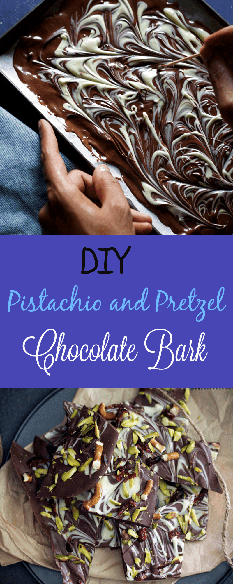 diy-homemade-pistachio-pretzel-chocolate-bark easy 5 mins dessert recipe