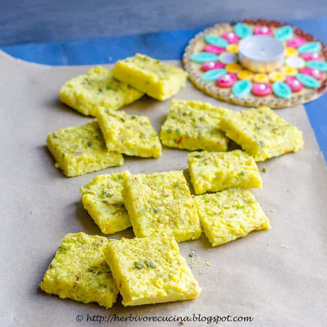 indian sweets dudhi barfi