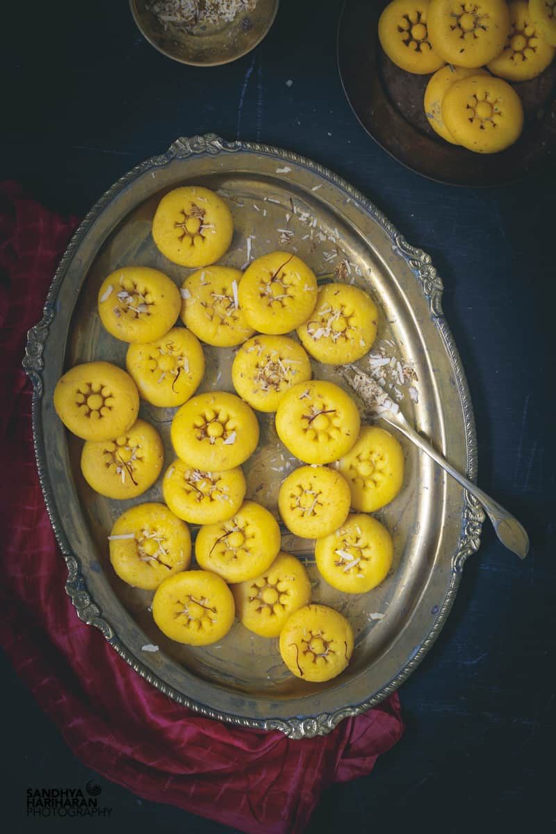 indian sweets instant kesar peda