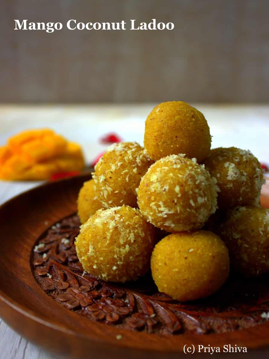 indian sweets mango ladoo