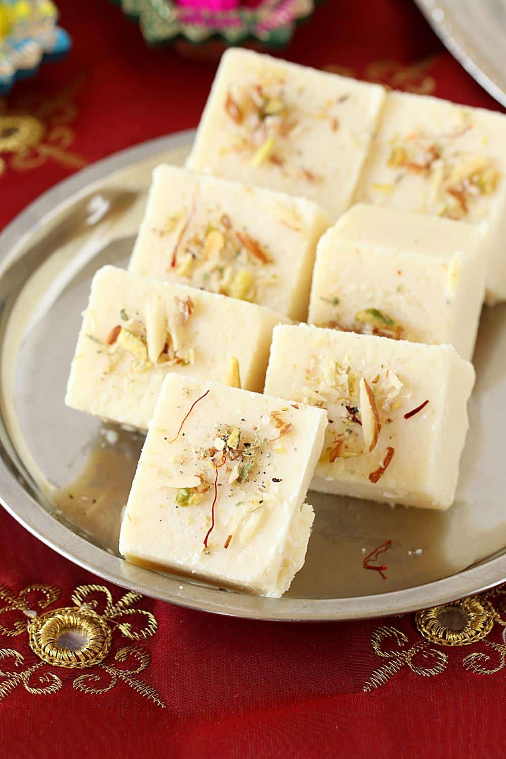 indian sweets paneer burfi