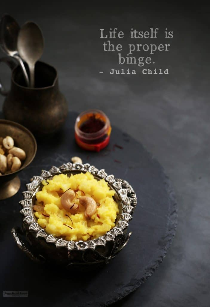 indian sweets pineapple kesari