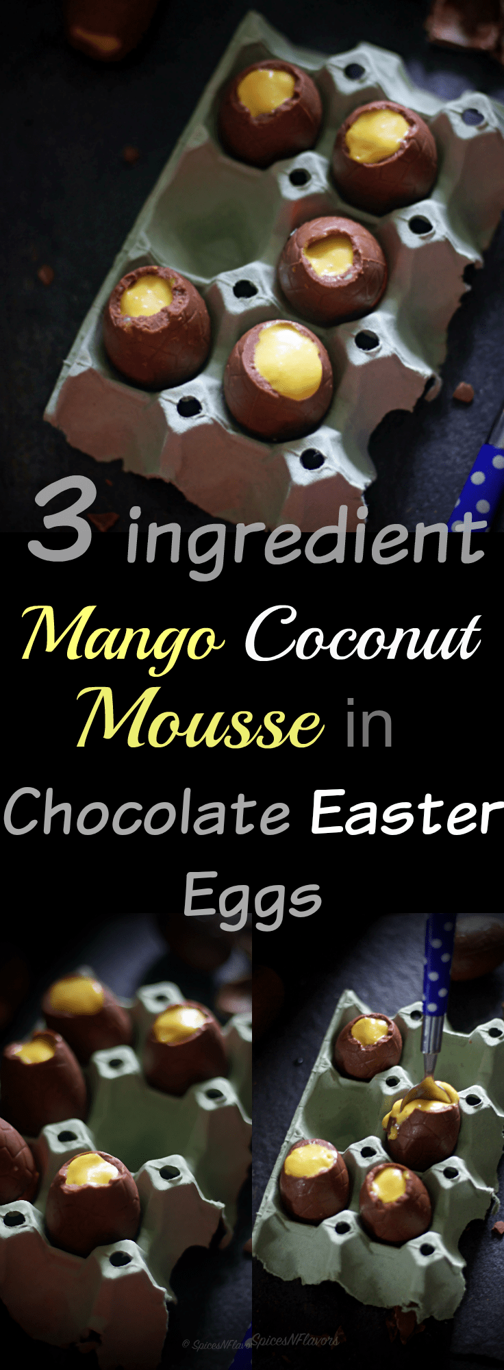 mango coconut mousse in chocolate easter eggs easter eggs photography happy easter easter ideas easter menu