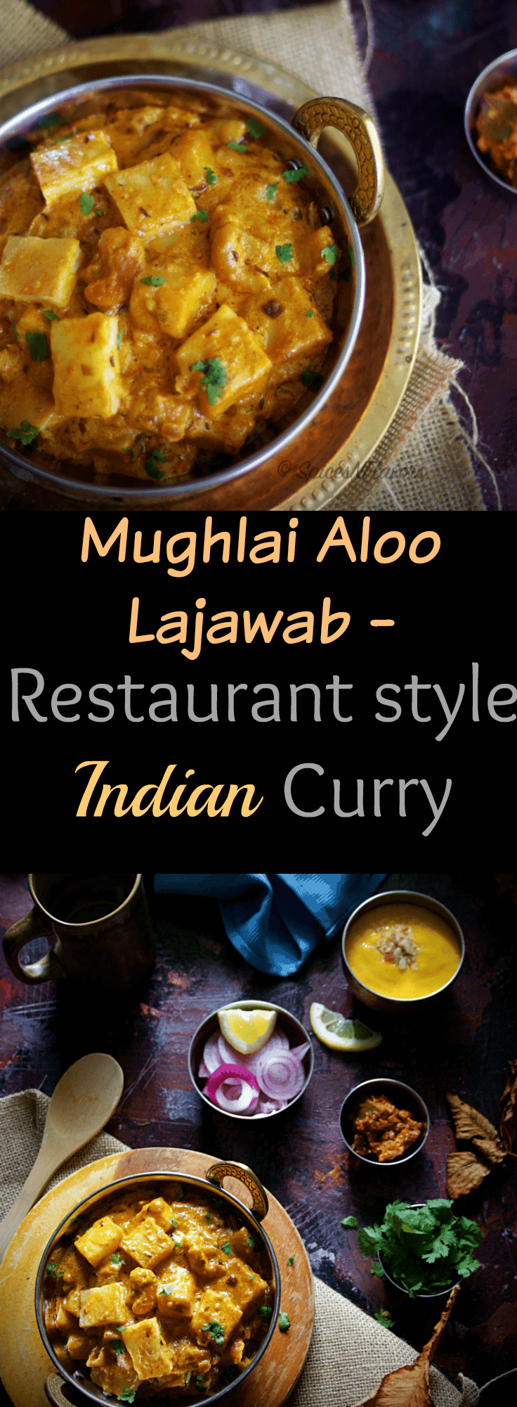 mughlai-aloo-lajawab-restaurant-style-indian-curry exotic flavourful gravy photography