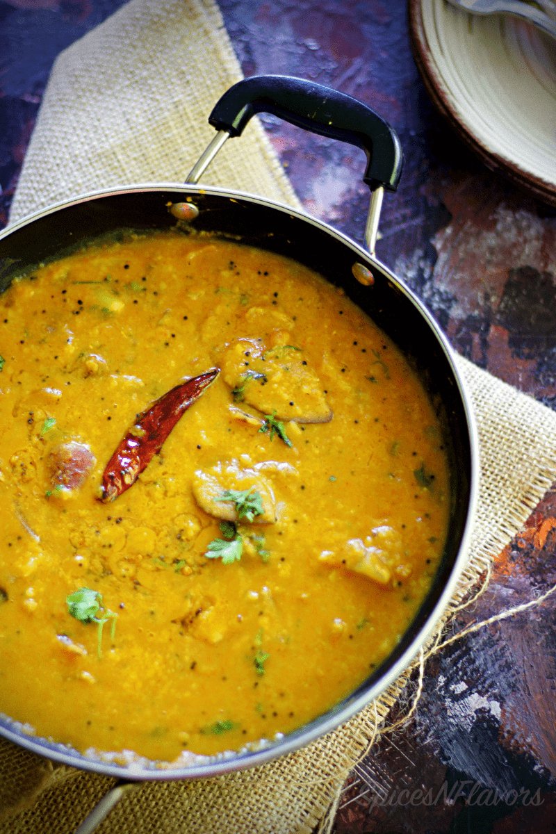 Raw Mango and Onion Sambar