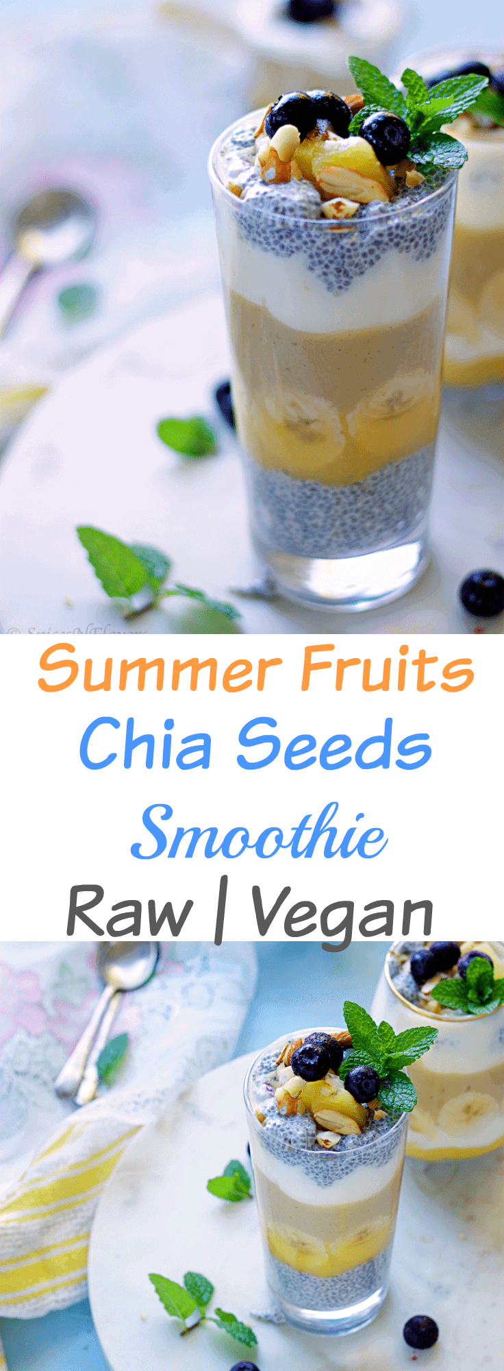coconut mango chia seeds smoothie vegan raw mango pineapple coconut recipes easy no cook breakfast