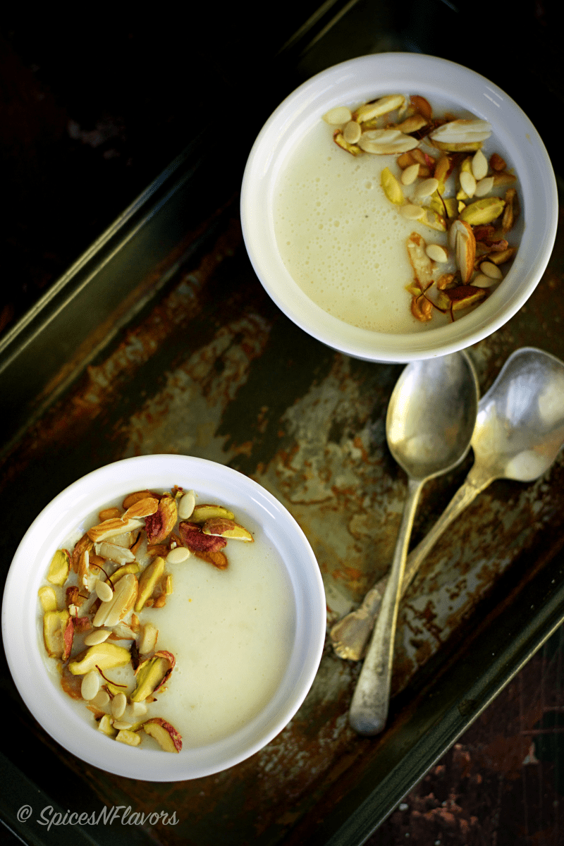 Arisi Thengai Payasam Rice Coconut Kheer Indian Pudding