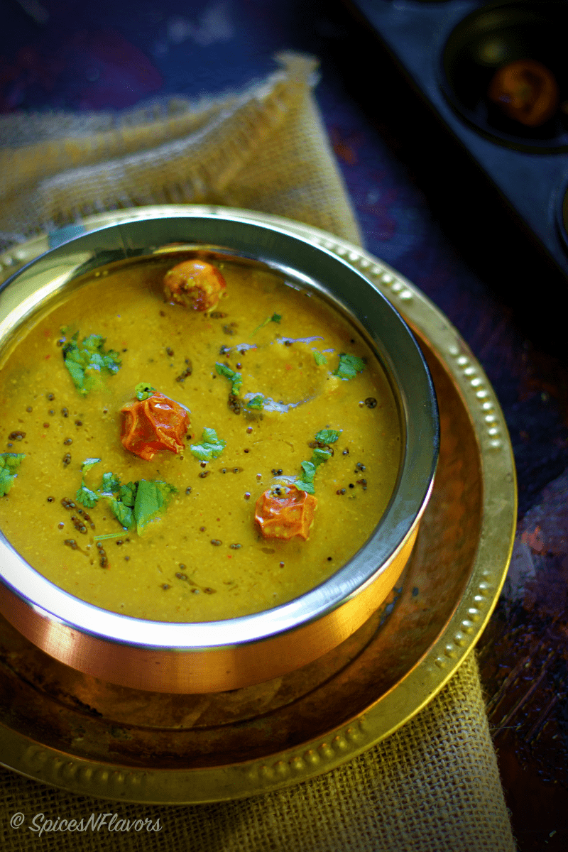 Arachuvitta Sambar using freshly ground spices no sambhar powde