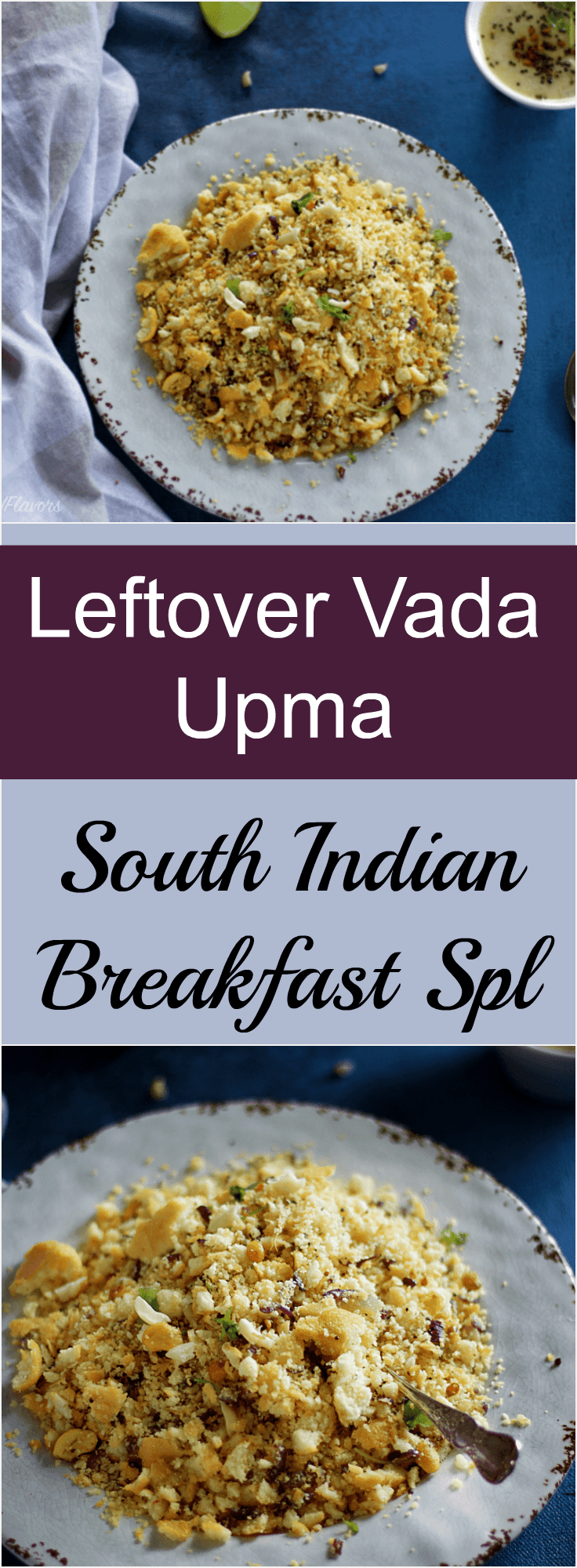 leftover vada upma indian breakfast recipe simple and quick ready in 15 minutes. Food photography