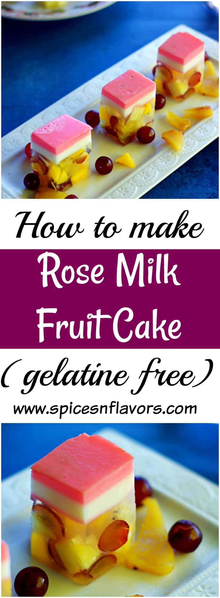 Rose Milk Fruit Cake Agar Agar Fruit Cake Learn how to use agar agar no gelatine recipe vegetarian recipe