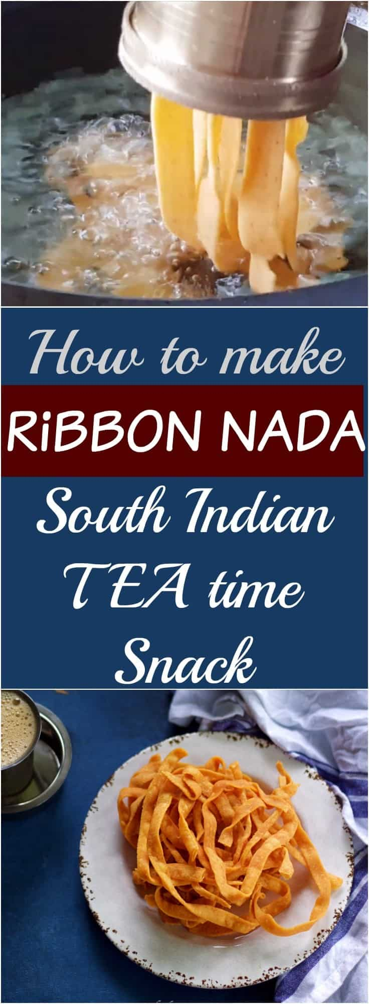 Ribbon Nada - South indian tea time snack traditional and authentic snack