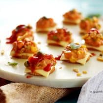 cheesy monaco bites easy party starter recipe indian festival recipe party food potluck idea simple bachelor food
