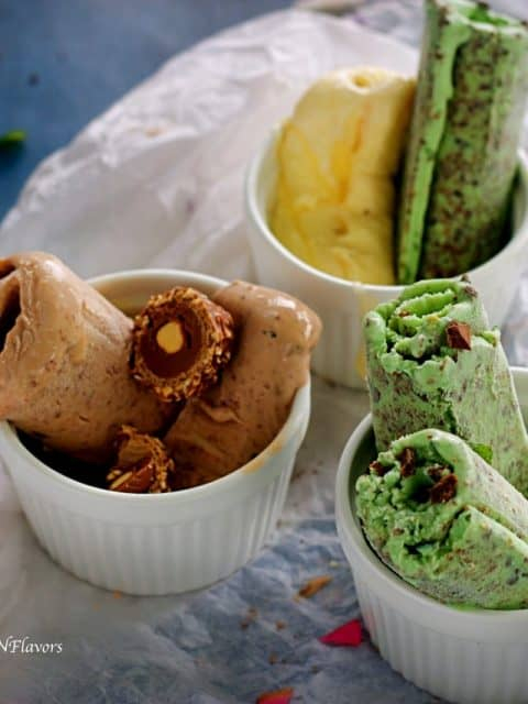 thai rolled ice-cream homemade rolled ice cream how to make rolled ice cream at home