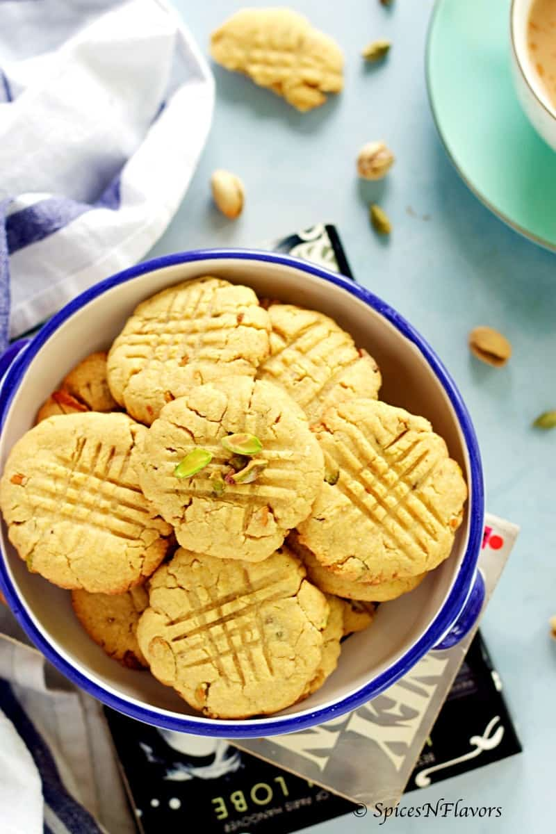 cardamom and pistachio whole wheat biscuits cookies atta biscuits in cooker biscuits in cooker easy beginners baking