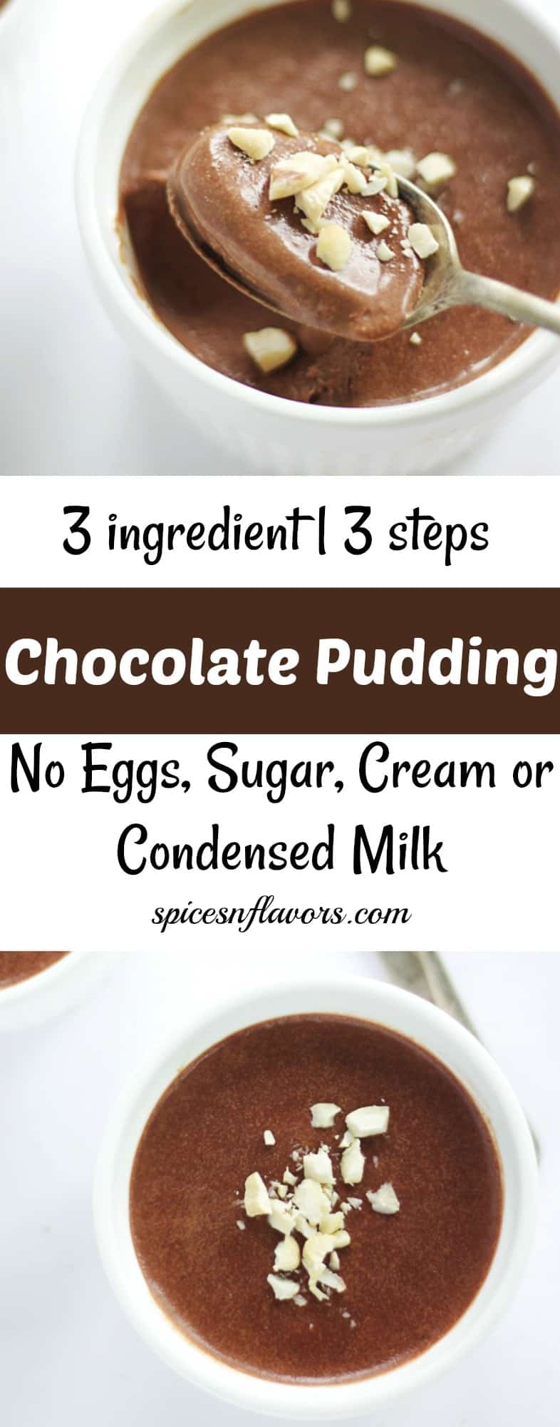 chocolate pudding 3 ingredient chocolate pot chocolate mousse easy pudding no cook no bake recipe food photography creamy chocolate pudding recipe