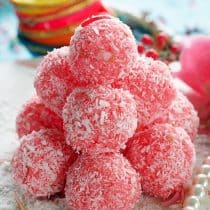 rose coconut laddu gulab nariyal laddu laddoo ladoo indian festival recipe indian sweets no cook instant sweets indian sweets diwali recipe festival recipes