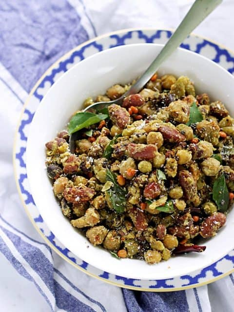 Navadhanya sundal bean salad legume salad healthy protein packed salad recipes navratri special authentic traditional south indian recipes