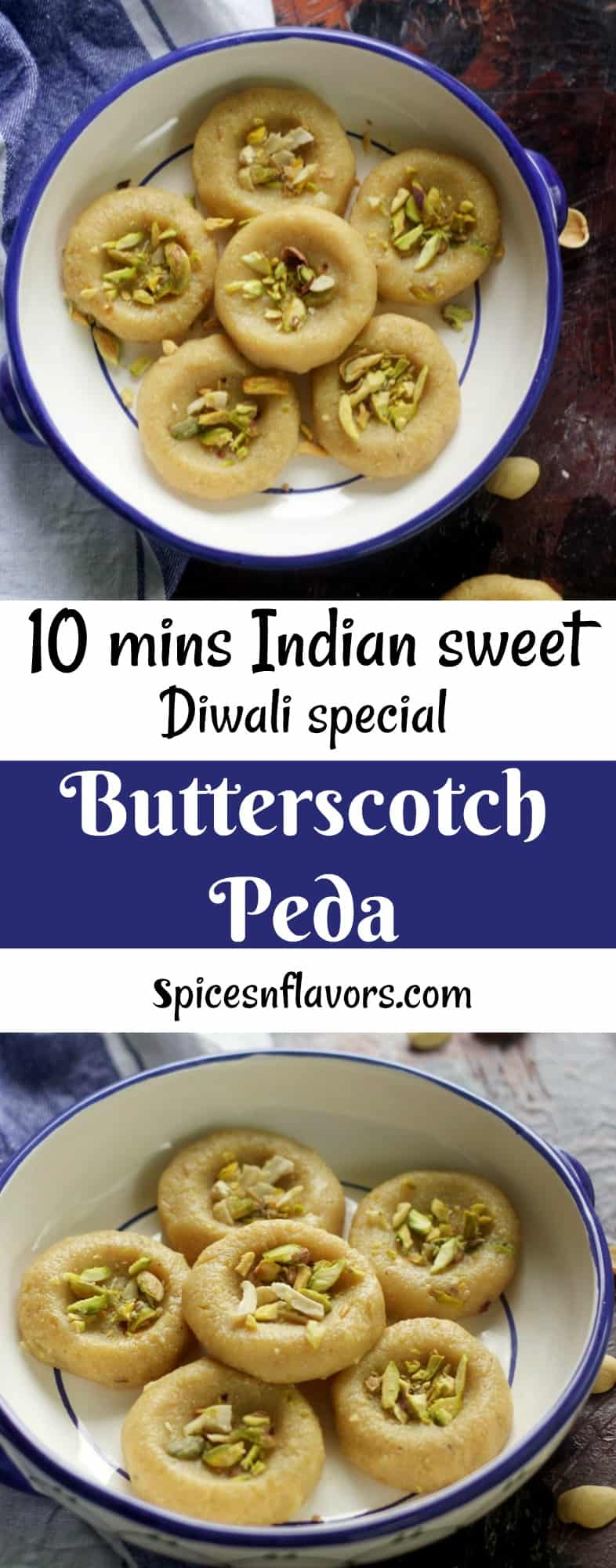 butterscotch peda recipe diwali peda recipe indian sweets diwali recipes festival recipe indian mithai kesar peda chocolate peda instant peda food photography #diwali #pinterest #sweets
