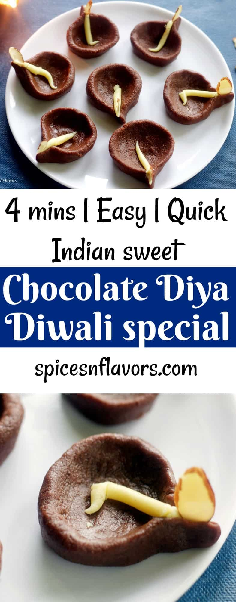 chocolate diya peda chocolate peda indian sweet indian mithai diwali special indian sweet quick diwali recipes easy diwali recipes indian festival recipes