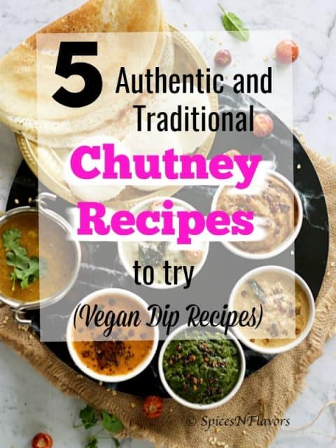 pin image of 5 south indian chutney recipe post