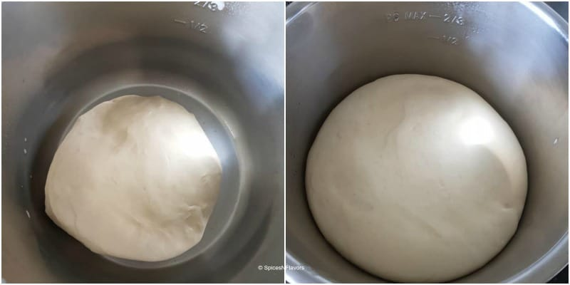 proofing laadi pav dough in the IP