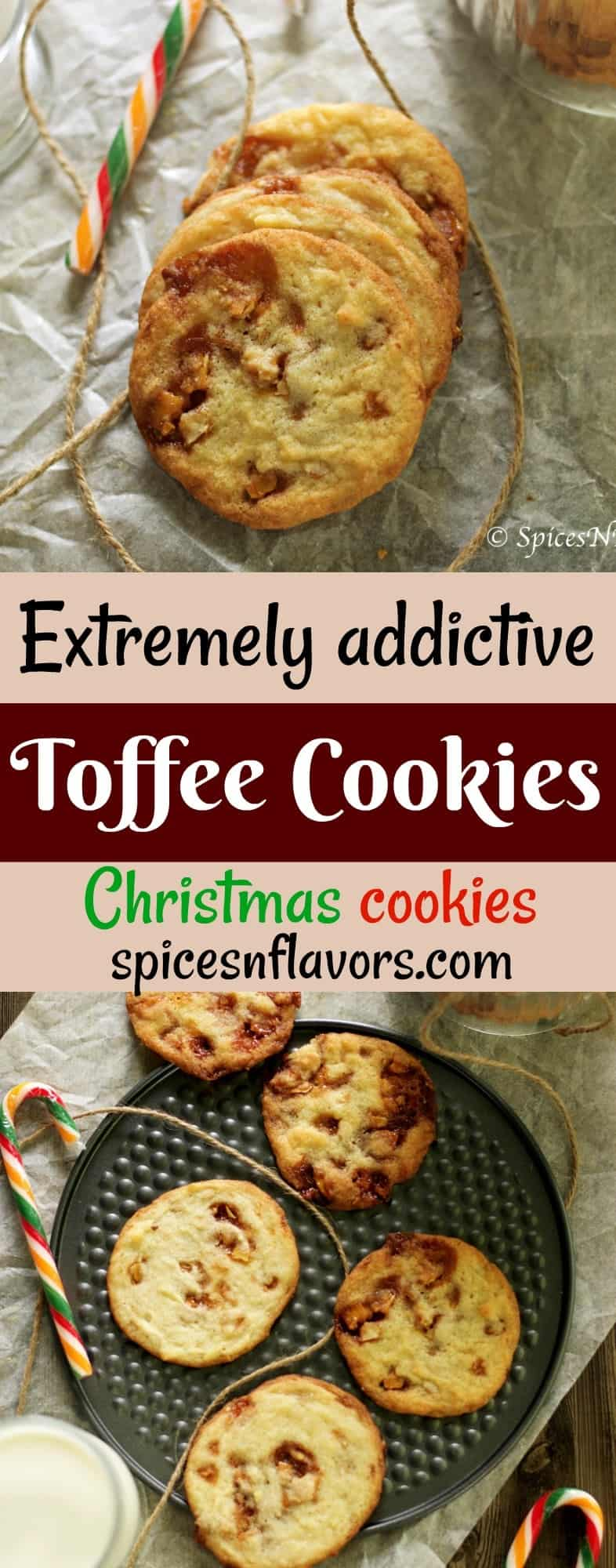 pin image of toffee cookies