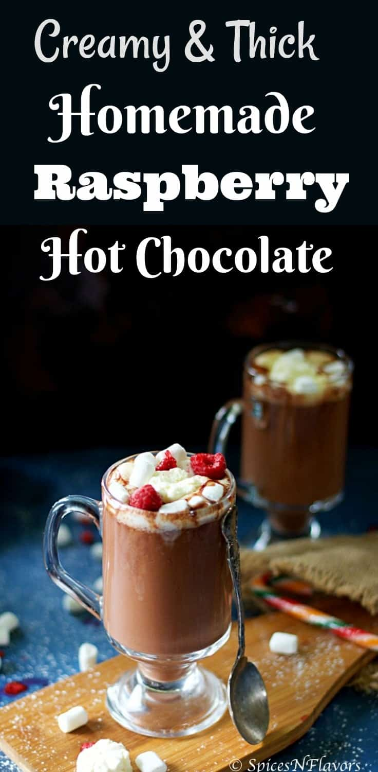 raspberry hot chocolate homemade hot chocolate how to make hot chocolate at home #chocolate #hotchocolate #raspberry simple raspberry recipe hot chocolate photography raspberry easy recipe recipes using raspberry