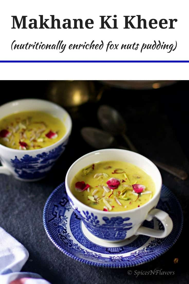 pin image of makhane ki kheer recipe
