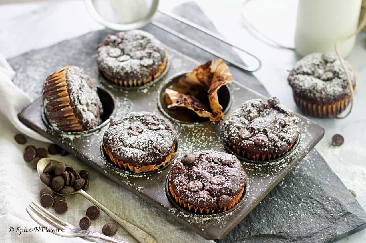 flourless zucchini muffins from best breakfast bake post