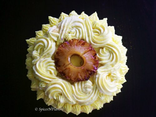 Moist Eggless Pineapple Cake Pineapple Pastry Spices N Flavors
