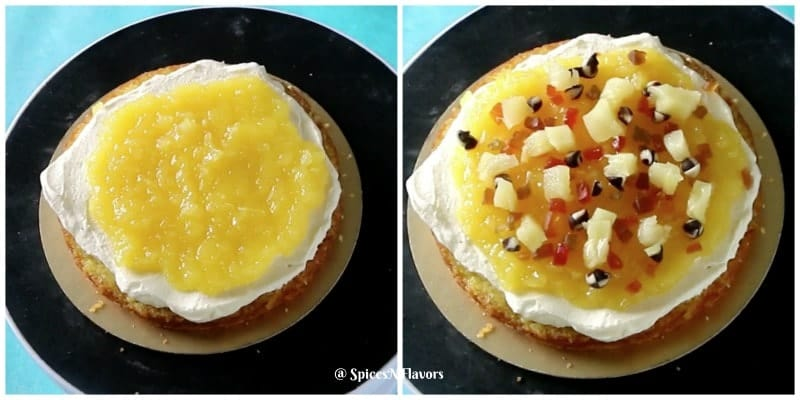 add ons image of eggless pineapple cake