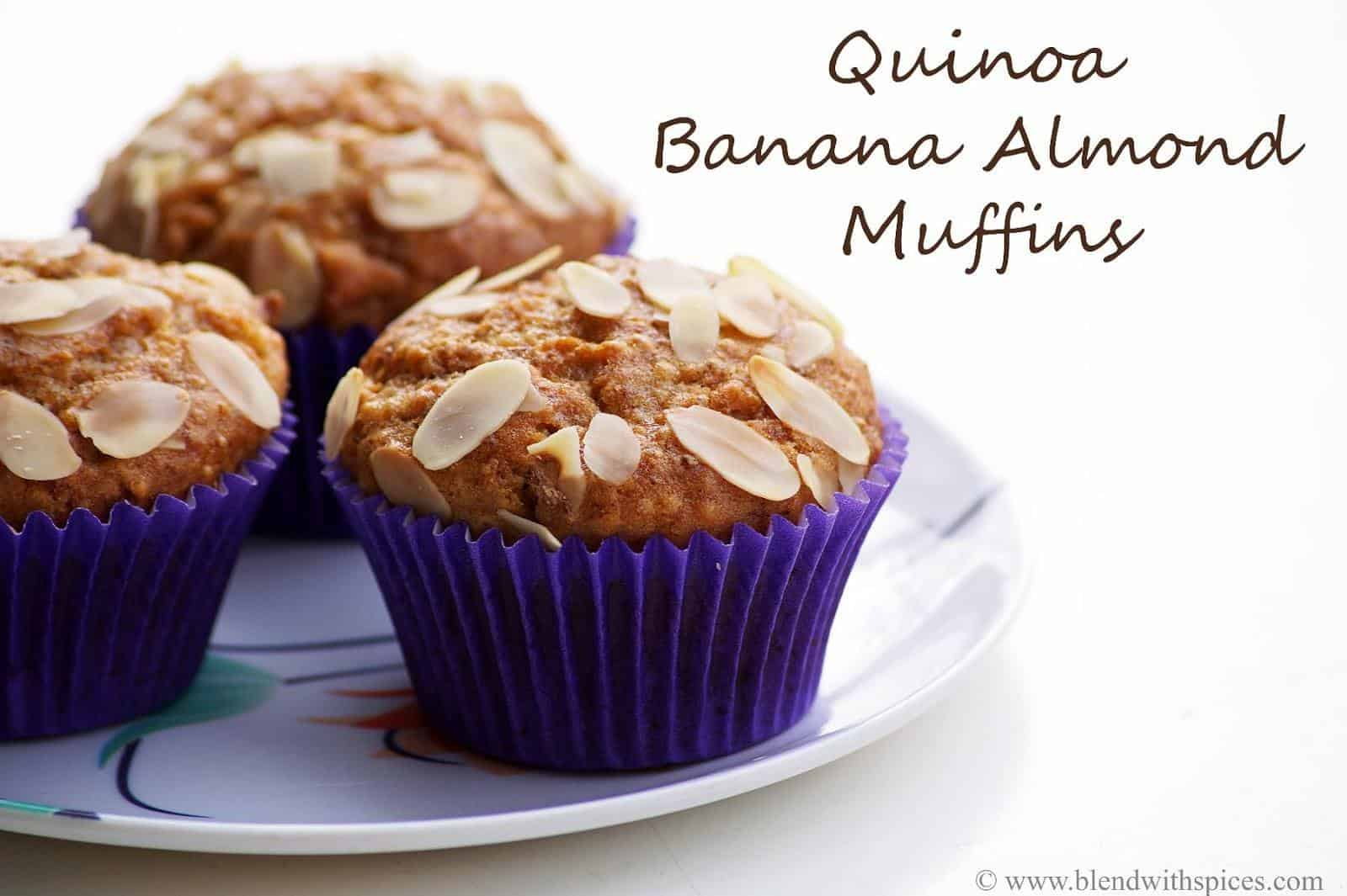 quinoa banana almond muffin from best breakfast bake post