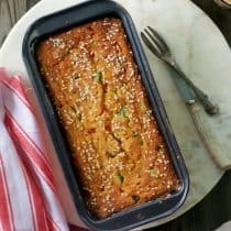 fresh healthy vegetable cake baked straight from the oven picture