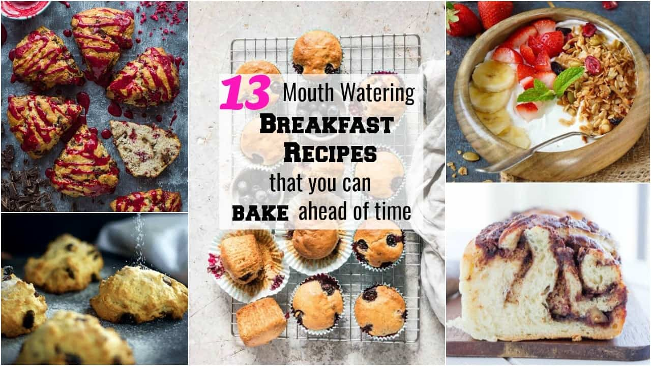 horizontal collage image of best breakfast bake post