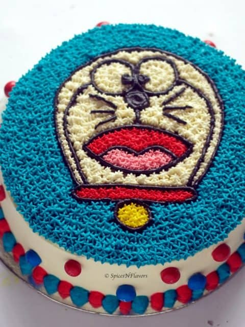 final image of doraemon cake