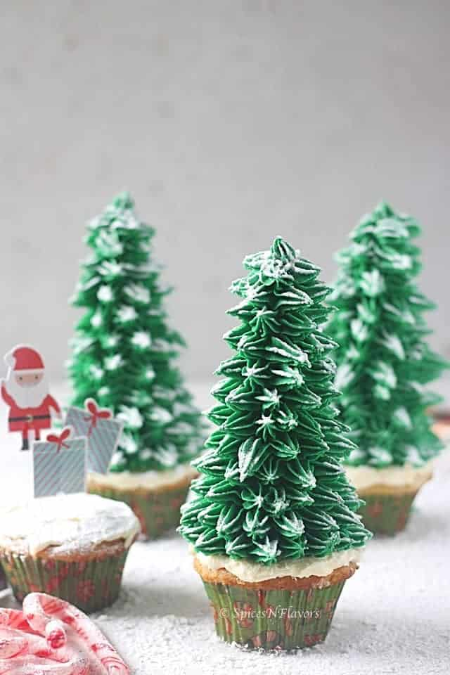 How To Make Christmas Tree Cupcakes Spices N Flavors