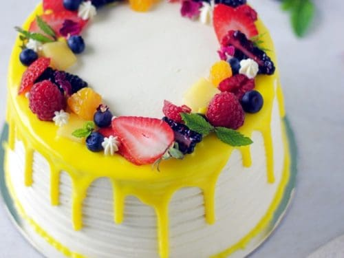 Awe Inspiring Eggless Fresh Fruit Cake With Whipped Cream Spices N Flavors Funny Birthday Cards Online Elaedamsfinfo