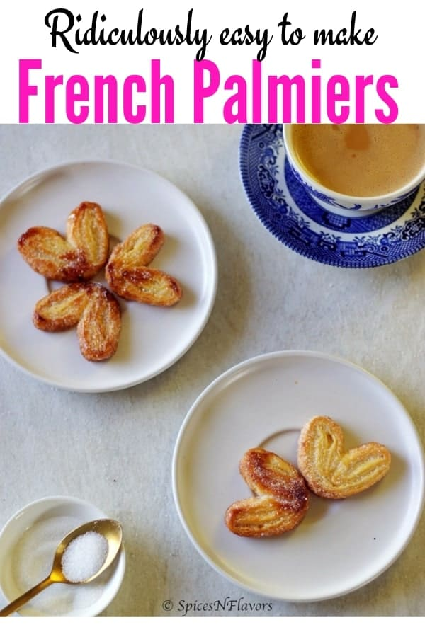 pin image of french palmiers
