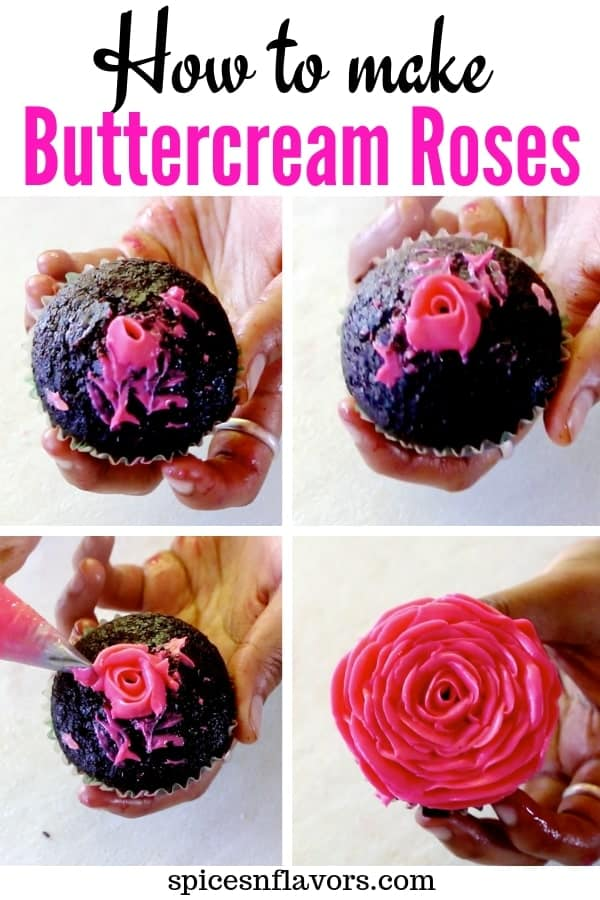pictorial tutorial on buttercream roses from buttercream flowers post