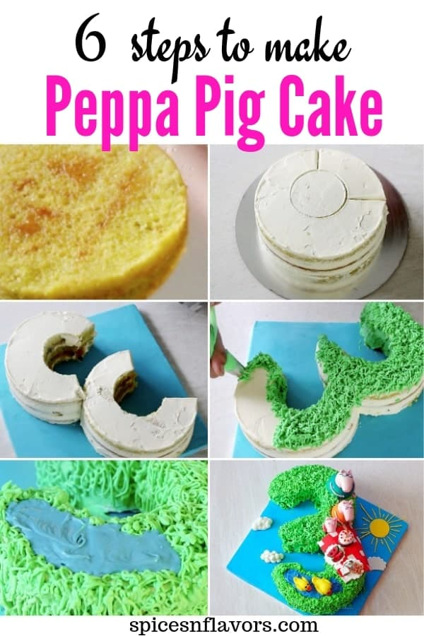 pin image of peppa pig birthday cake