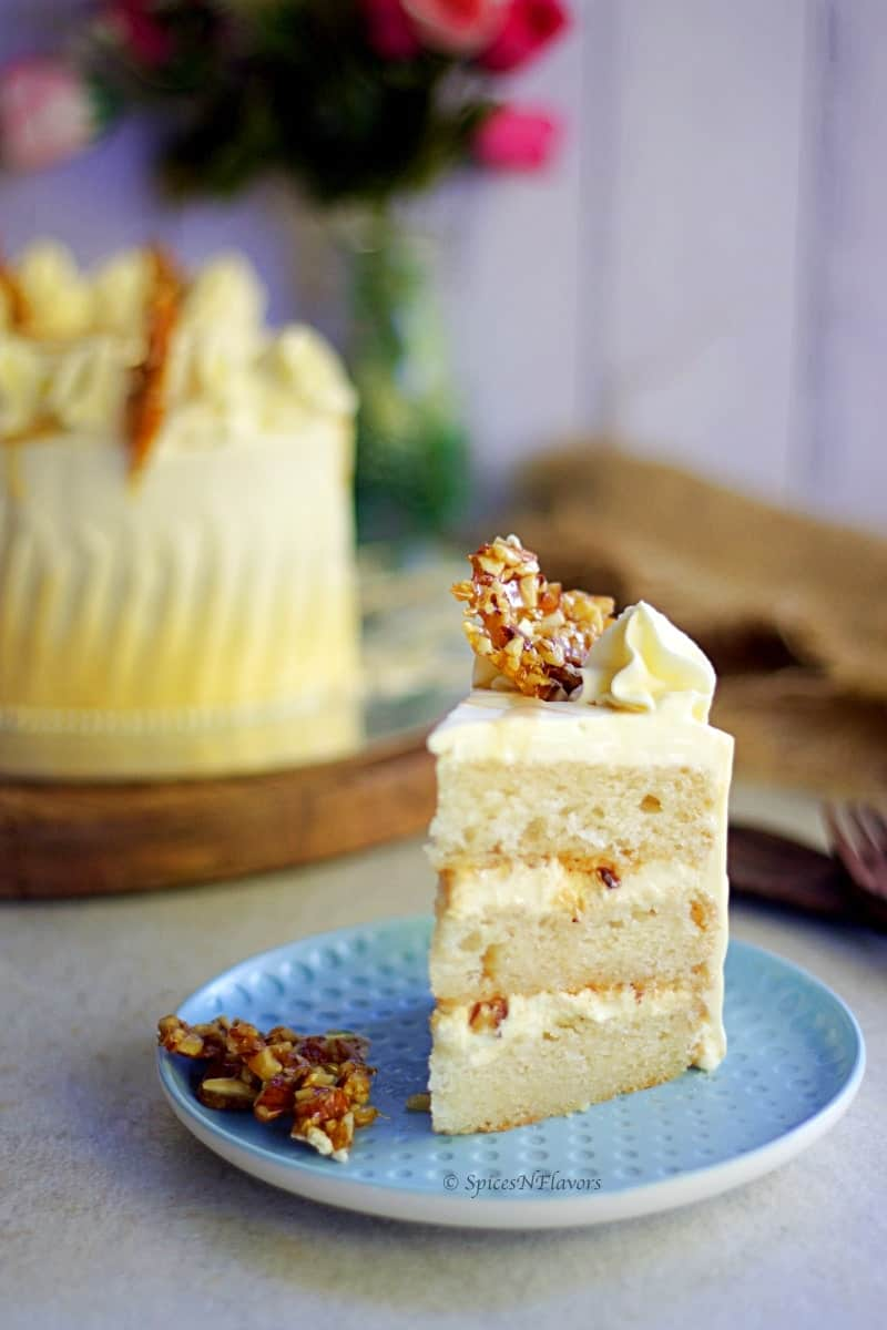 sliced image of butterscotch cake showing the texture from within