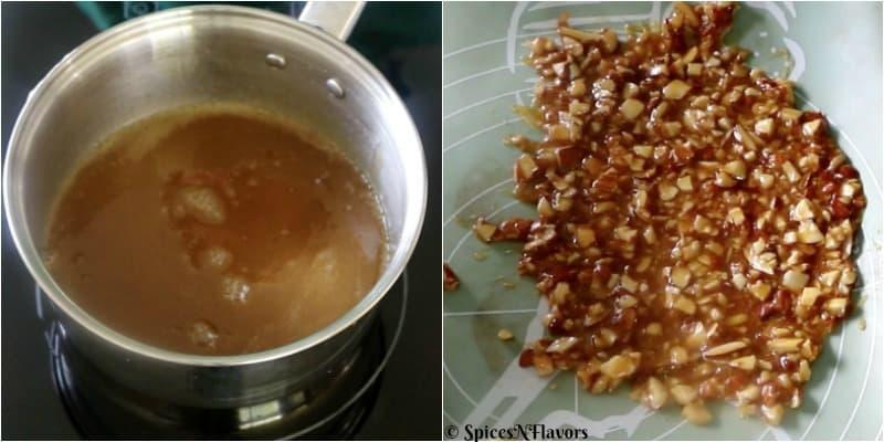 step 4 of eggless butterscotch cake recipe