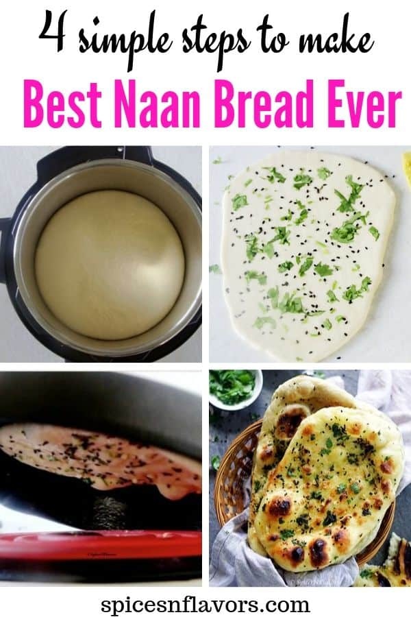 pin image of naan bread recipe