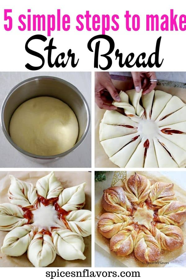 pin image of star bread