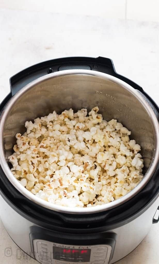 popcorn cooked in the instant pot