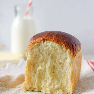 milk bread showing its internal structure