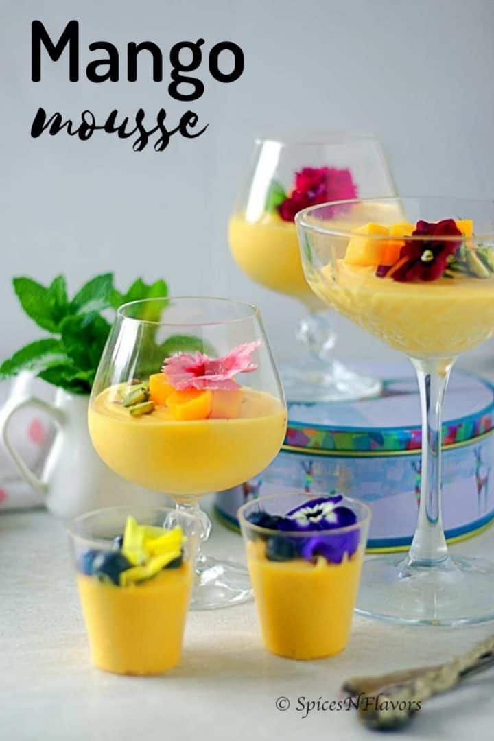 mousse served in glasses